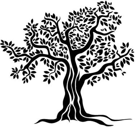 Old Olive Tree Monochrome Wall Sticker   Memorial