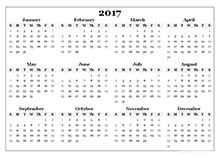 2017 Calendar Templates - Download 2017 monthly & yearly