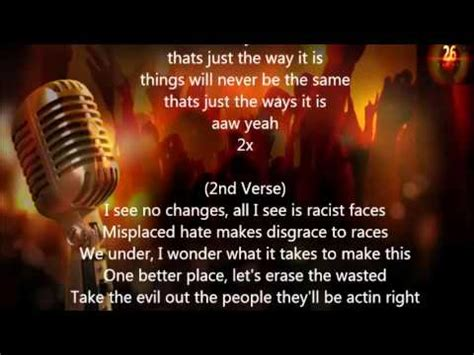 2Pac - Thats Just The Way It Is (Lyrics) - YouTube