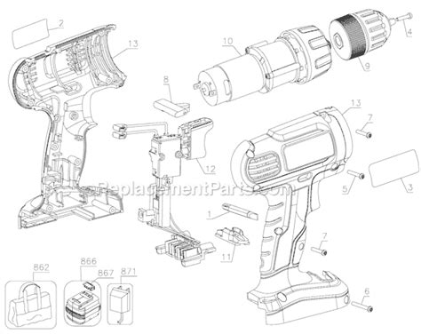 Black and Decker GC1200-BR Parts List and Diagram