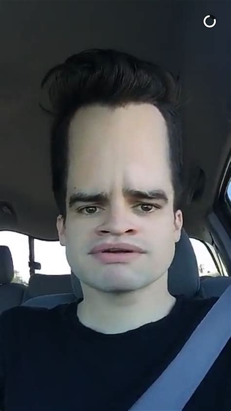 Brendon with a LARGER forehead