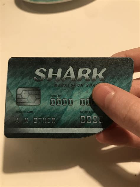 Decided to make an irl megalodon shark card : gtaonline