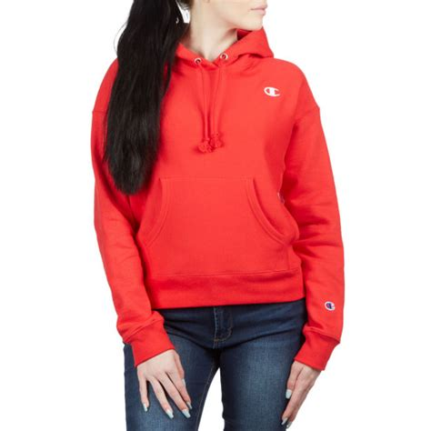 Champion Womens Reverse Weave Hoodie - Red Spark