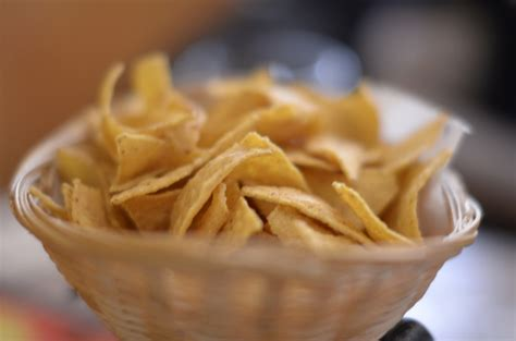 Tortilla chips   A tortilla chip is a snack food made from