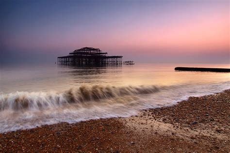 West Pier at sunset, Brighton, UK | Managed to capture a