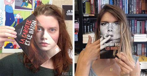 Readers Merge with Their Book Covers to Create Clever