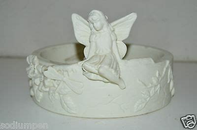 Nice PARTYLITE Ceramic Large FAIRY Floral Heavy High End